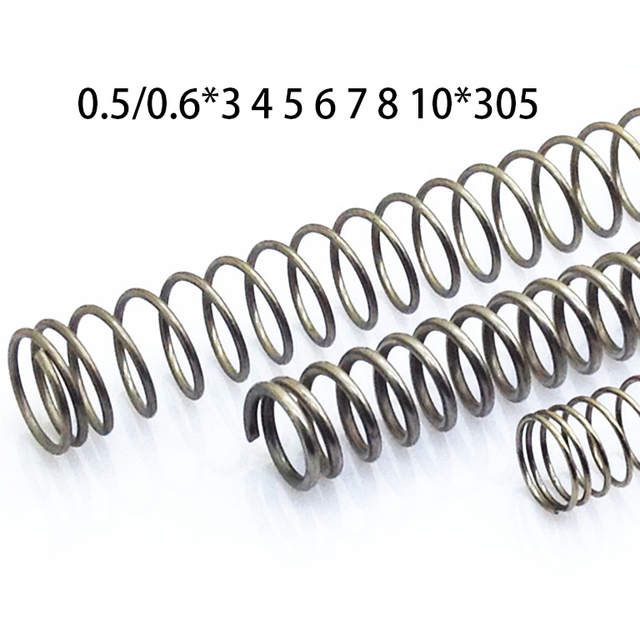2 шт. 0,5/0,6*3 4 5 6 7 8 10 нержавеющая сталь пружины сжатия неагрессивных Весна Y Форма пружины