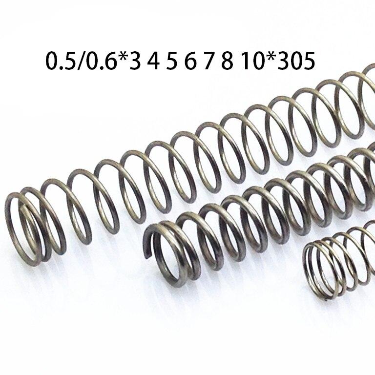 2 Stücke 0,5/0,6*3 4 5 6 7 8 10 Edelstahl Kompression Quellen Nicht-korrosiven Frühling Y Form Zugfedern GroßE Sorten