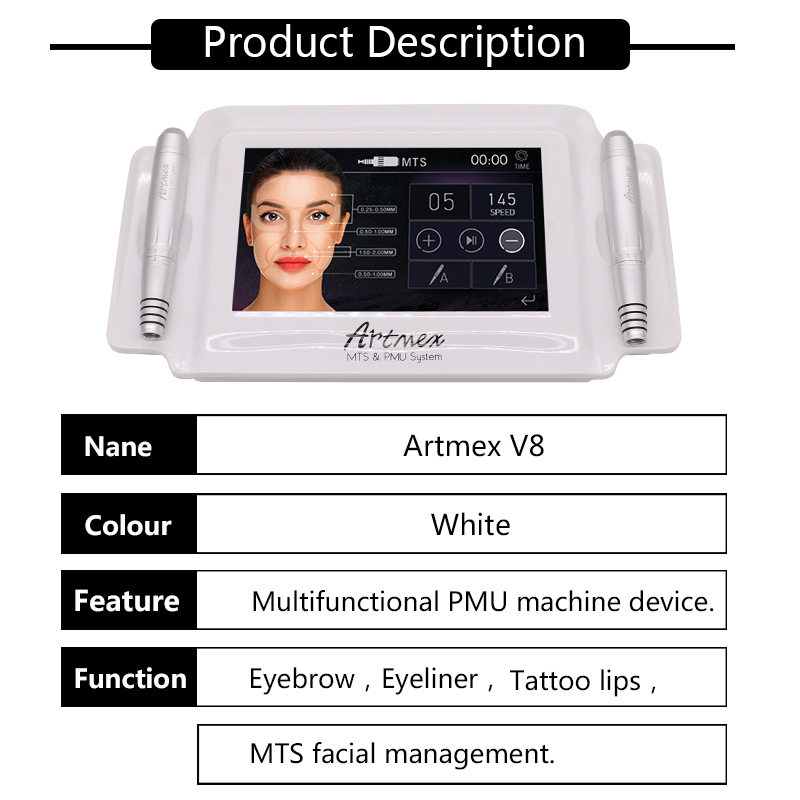 Permanent Makeup Pigment For Eyebrow Tattoo Making Machine Digital Tattoo Machine Dropshipping Supported Artmex V6 V8 V9 V11 in Tattoo Guns from Beauty Health