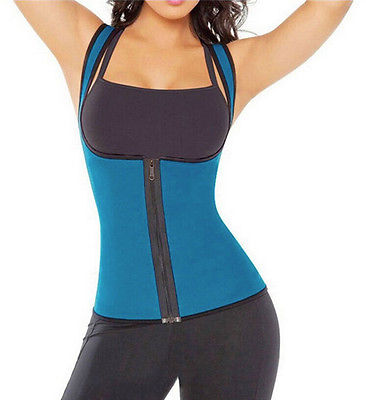 Sexy Womens Neoprene Body Shaper Slimming Waist Slim Belt Vest Underbust Women Hot Zippers Shapers 2