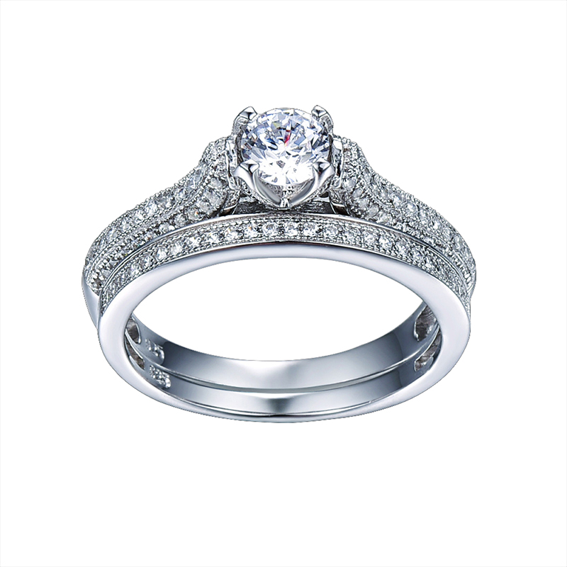 Liela izpārdošana 2016 100% 925 sudraba kāzu gredzeni. Īstas - Skaistas rotaslietas - Foto 2