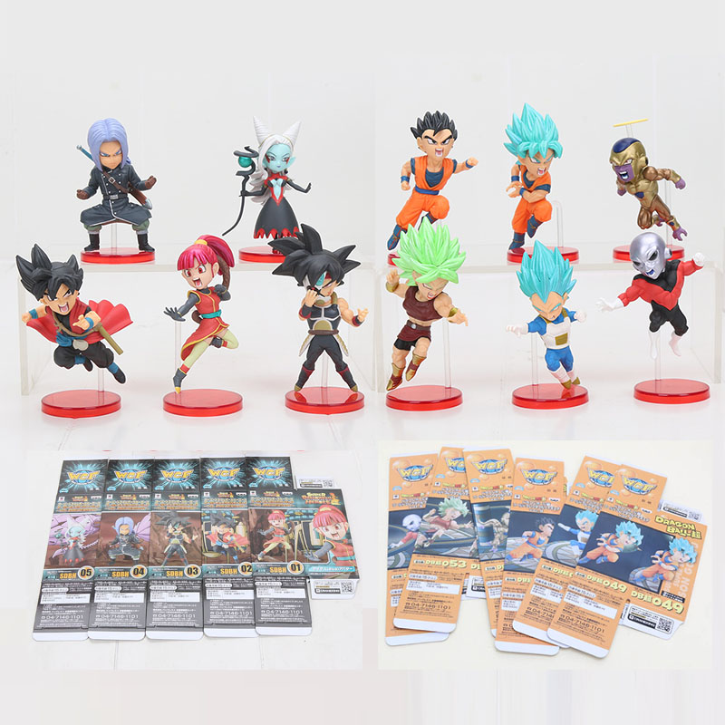 6cm Dragon Ball WCF Zeno Goku trunks towa vegeta freeza gohan Super Dragon Ball Heroes 7th anniversary PVC Action Figure toy