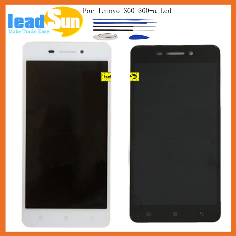 5.0High Quality replacement For Lenovo s60-a s60a s60 LCD display with touch screen digitizer Assembly with tools free shipping high quality 5 3 for lenovo s898 s898t lcd display touch screen digitizer assembly replacement tools free shipping