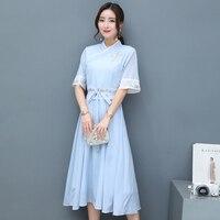 2019 summer woman white print aodai vietnam traditional clothing ao dai vietnam dress vietnam costumes improved cheongsam dress