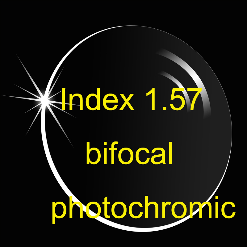 Index 1 56 Bifocal With A Line Photochromic Transition Lense Anti Reflective And Anti Scratch Prescription
