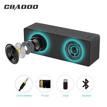 CBAOOO F2 Bluetooth Динамик Портативный Беспроводной Динамик звук Системы 3D музыке стерео объемного Поддержка Bluetooth Mic TF AUX USB
