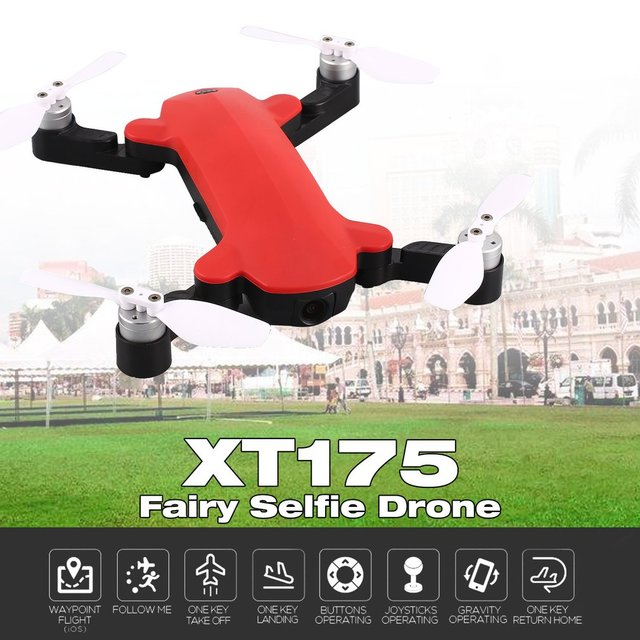 XT175 1080P WIFI FPV GPS Brushless Optical Flow Positioning Altitude Hold RC Quadcopter Foldable Gravity Control Mode
