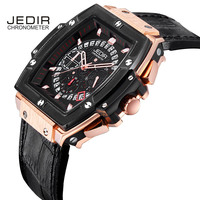 JEDIR Men Sport Watches Pirate Hollow Leather Luminous fashion Wrist Quartz Watch megir Relogio Masculino