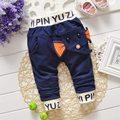 2016 otoño bebés y niños niños niños Babi elefante Casual carta pantalones largos de cuerpo entero pantalones S2130
