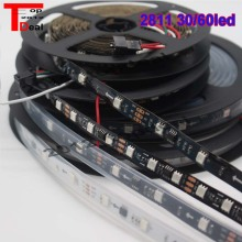 WS2811 5050 RGB Светодиодные ленты 5 м 150 300 светодиодный S прибор приемно-DC12V