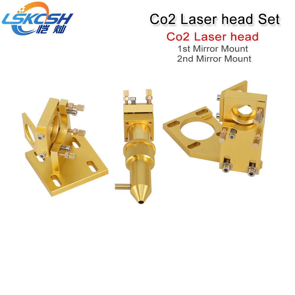 LSKCSH Co2 Laser Head Set for 2030 4060 K40 Laser Engraving Cutting Machine wholesales agents wanted robotec mini small card small business laser engraving cutting machine cnc co2 6040 4060