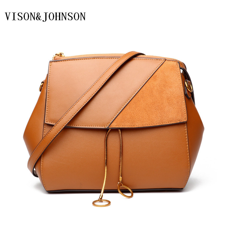 VISON&JOHNSON Fashion Designer Luxury Crossbody Bag Women Split Leather Messenger Bag High Quality Red Green Shoulder Bag mick johnson motivation is at