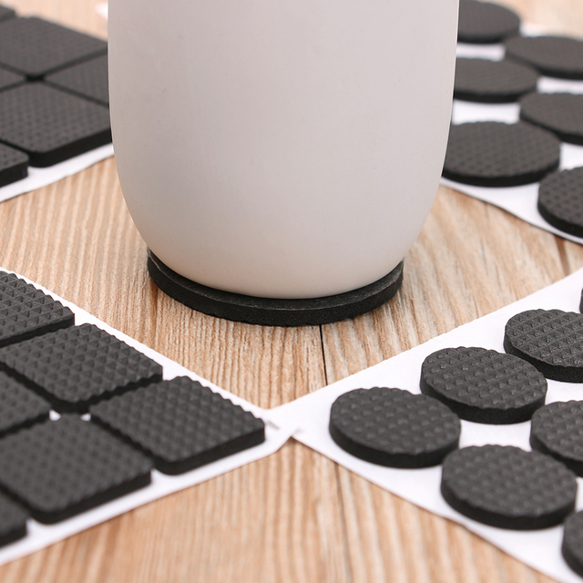 Hot 1/2/6/15/24PCS Soft Thickening Bumper Chair Fittings Self-adhesive Floor Protector Anti-slip Mat Anti Rub Furniture Leg Pads 4