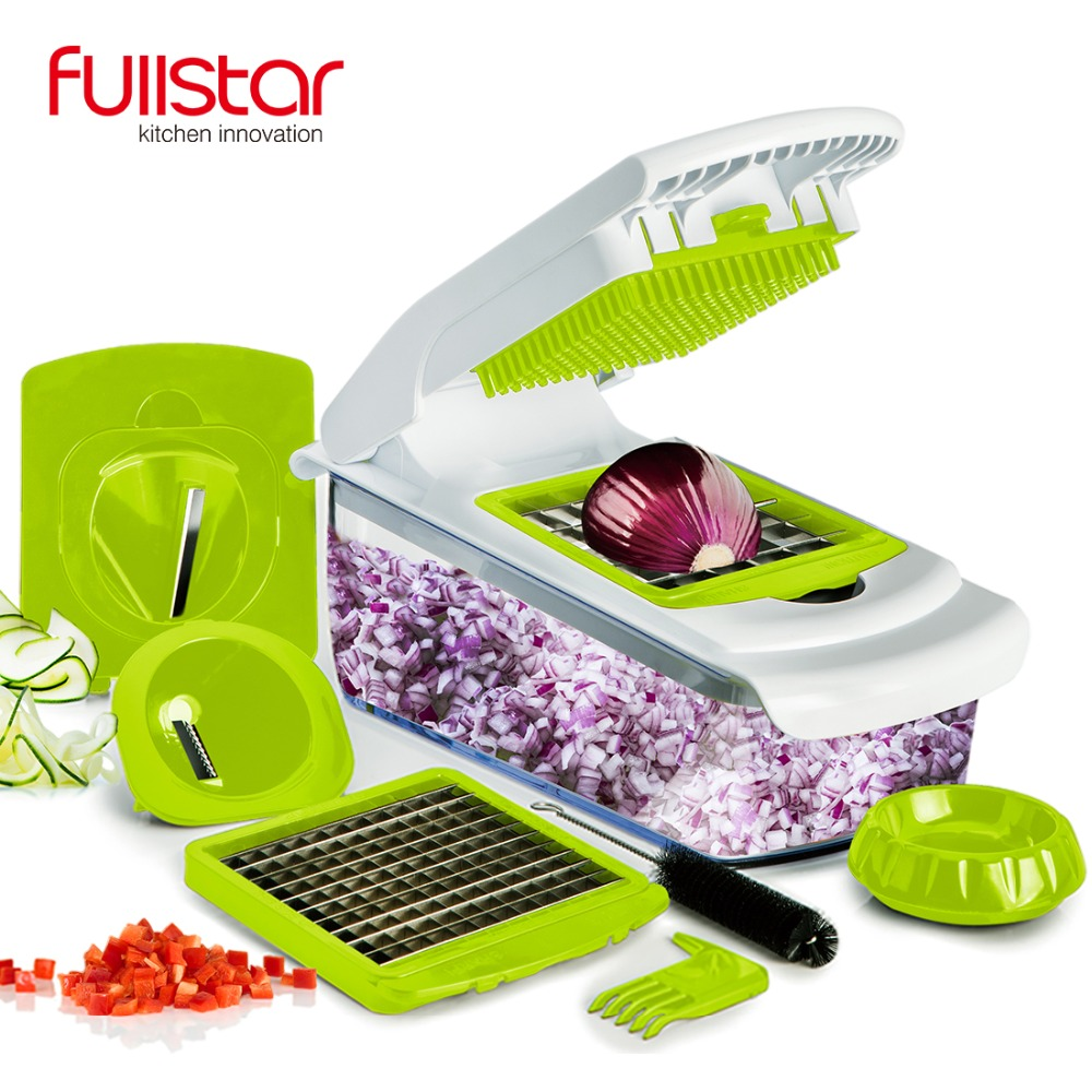 Fullstar  vegetable cutter Kitchen accessories Mandoline Slicer Fruit Cutter Potato Peeler Carrot Cheese Grater vegetable slicer|vegetable slicer - title=