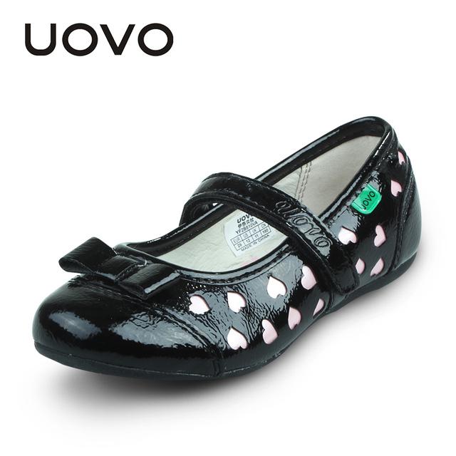 Uovo meninas da forma meninas do coração vestido de couro shoes cut-out cor hit shoes flat shoes para meninas princesa partido shoes