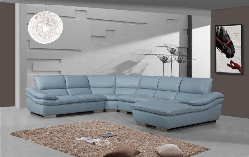 Modern Genuine leather sofa l shape sofa set designs ...