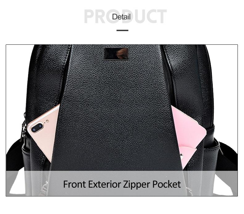 HTB1nca3a4 rK1RkHFqDq6yJAFXa3 Fashion Gold Leather Backpack Women Black Vintage Large Bag For Female Teenage Girls School Bag Solid Backpacks mochila XA56H