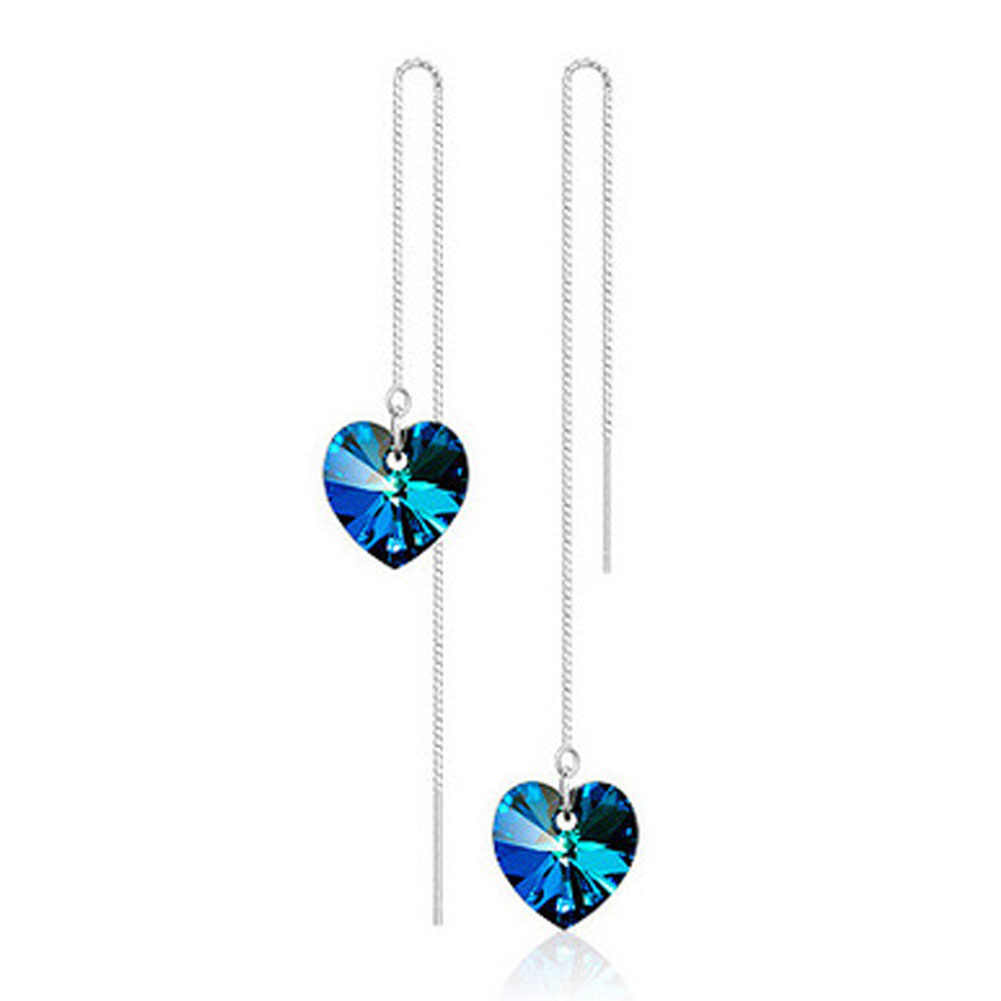 High Quality Long Section Of The Heart Earrings can DropShipping
