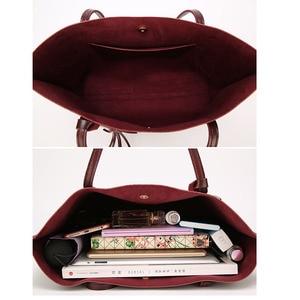 Image 5 - Designer Handbags Soft Leather Big Women Bags HandBags Famous Brands Top handle Bags Female PU Tote Shoulder Bags for Women 2020