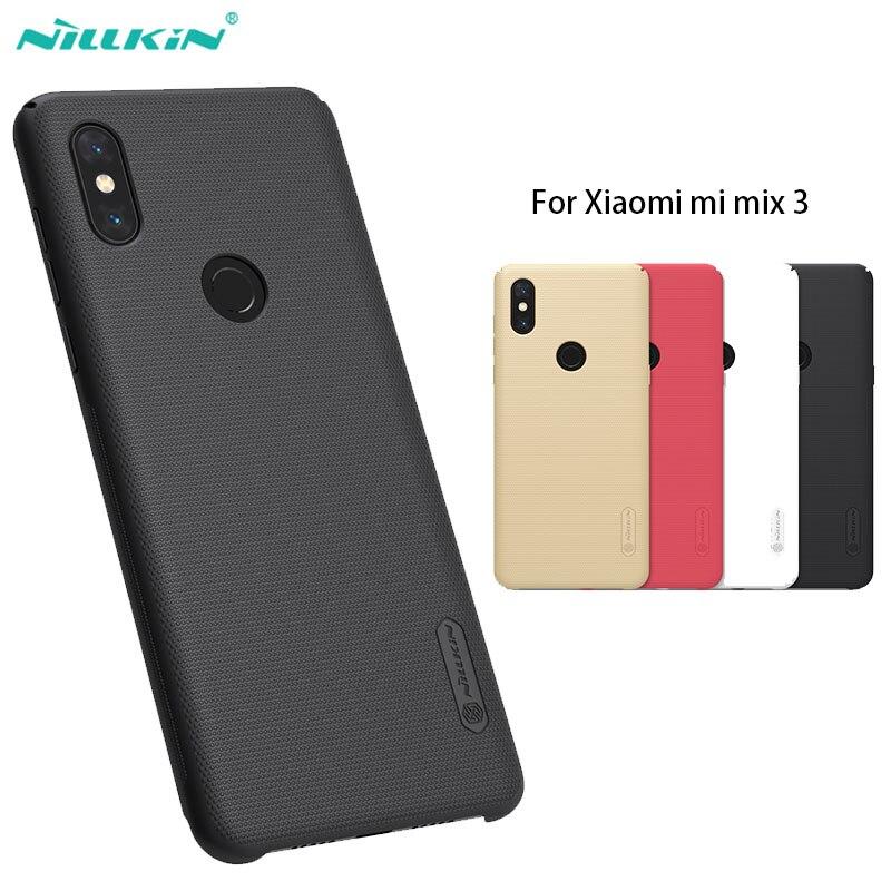 Xiaomi Mi Mix 3 Case Casing Nillkin Frosted Shield PC Hard Back Cover Case for xiaomi mi mix 3 mix3 case 6.39''