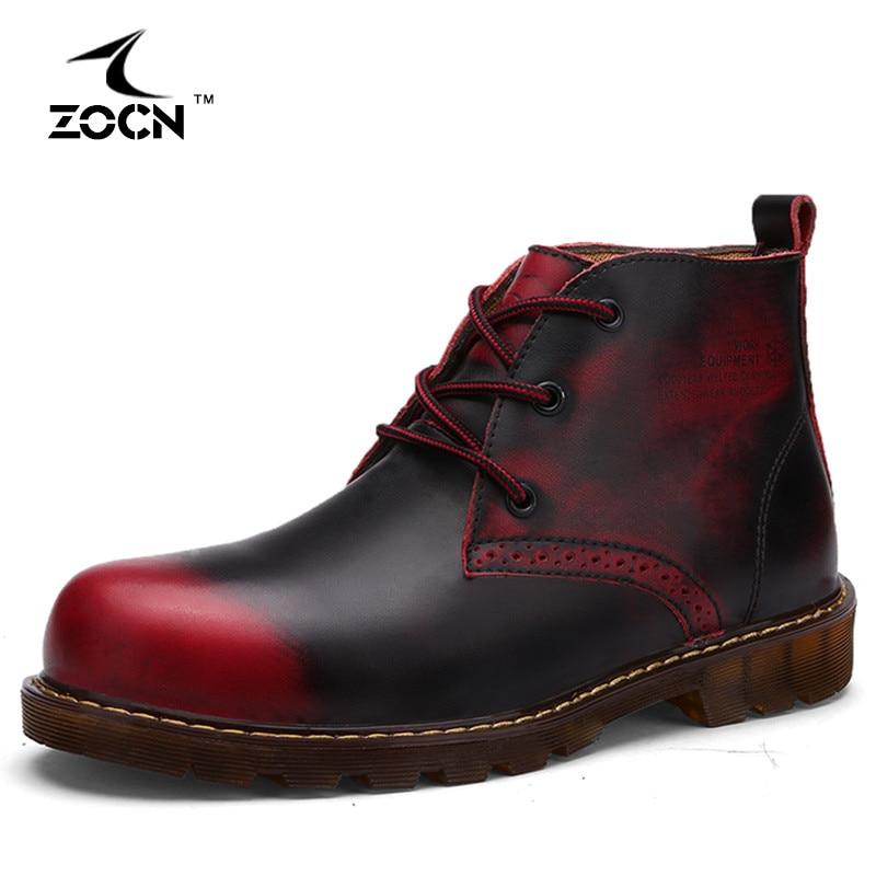 autumn boots cow split leather boots