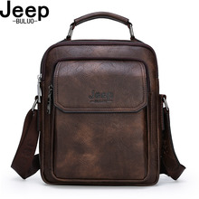 JEEP BULUO Big Brand Men Handle Messenger Bags For iPad Business Casual Leather High Grade Handbag Men's Shoulder Bag New Hot сумка brand new a c 2015 messenger 18colors 24