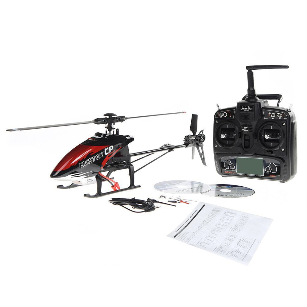 New Walkera MASTER CP Flybarless 6-Axis 6CH RC Helicopter & DEVO 7 Transmitter walkera master cp flybarless rc helicopter 6ch 6axis gyro
