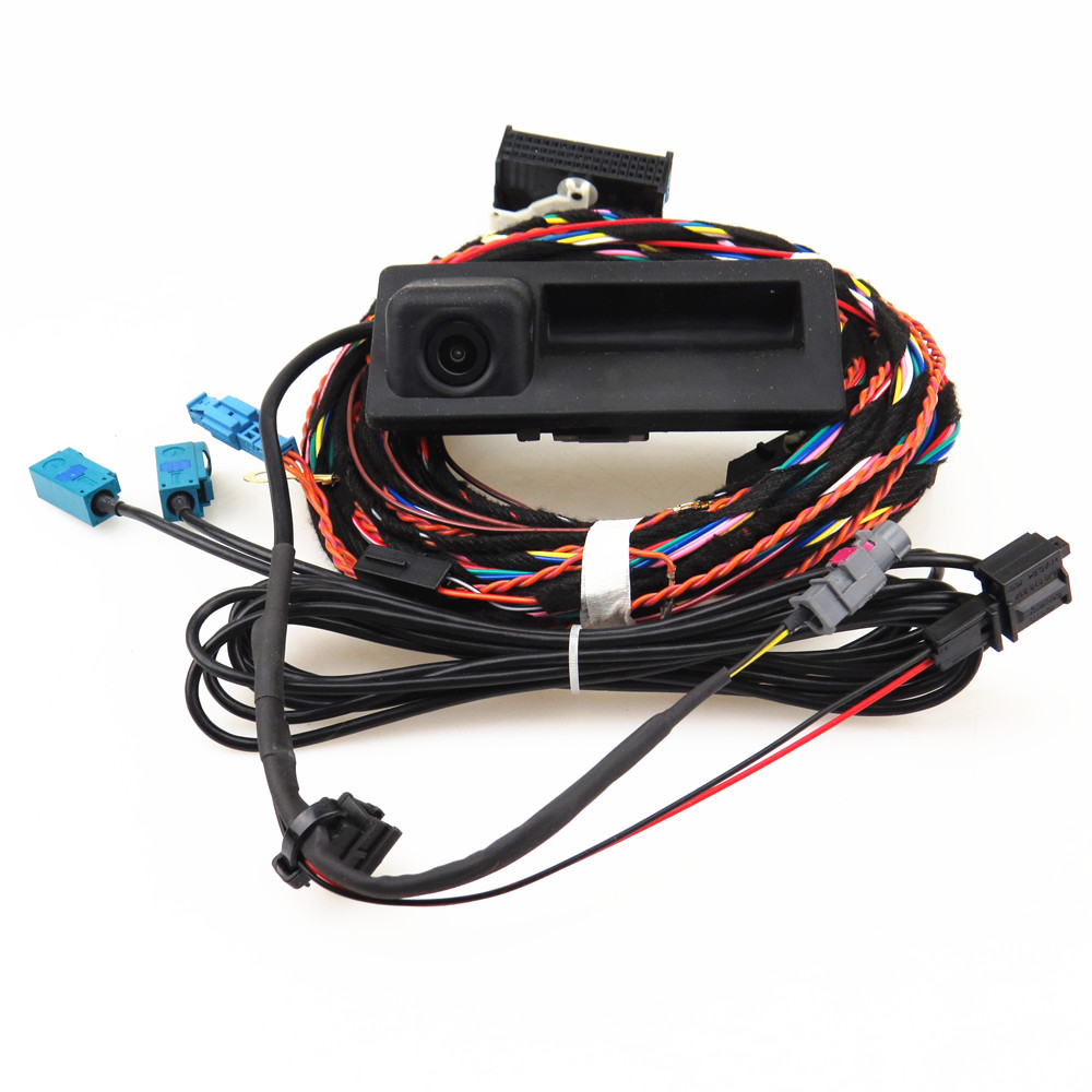 HONGGE RCD 510 RNS 310 RNS315 12V Rear View Reversing Camera + Cable Harness For VW Tiguan 5ND 827 566 C цена