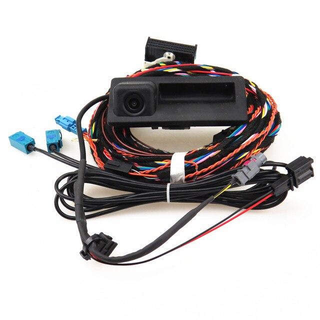 HONGGE RCD 510 RNS 310 RNS315 12V Rear View Reversing Camera + Cable Harness For VW Tiguan 5ND 827 566 C