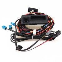 Hongge RCD 510 RNS 310 RNS315 12 В заднего вида Камера + кабель проводов для VW Tiguan 5ND 827 566 c