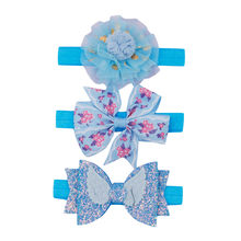 2019 3Pcs Kids Elastic Floral Headband Children'S Simple Pearl Flower Hair Band Three-Piece Suit Baby Tiara Rubber Bands Nino(China)