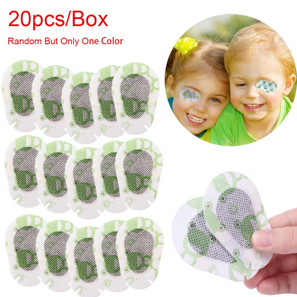 20PCs/box Colorful Breathable Eye Patch Band Aid Medical Sterile Eye Pad Mask Adhesive Bandages First Aid Kit Eyeshade For Kids