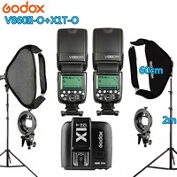 Photo Studio Kit 2X Godox V860IIO Flash +1 X1T O Trigger +2 Light Stand +2 Softbox Photography Accessories for Olympus Panasonic