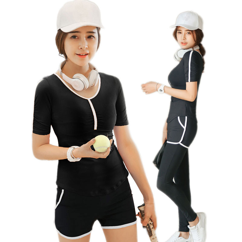 Yoga Set Sexy T shirt Pants or Shorts Quick Dry Breathable Gym Sports Training Clothing Stretch