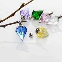 100 штук 19,2*13,8 мм стеклянный Вейл ожерелье кулон стеклянный кристалл флакон духов формирование микрорельфа имени на рисе художественные талисманы
