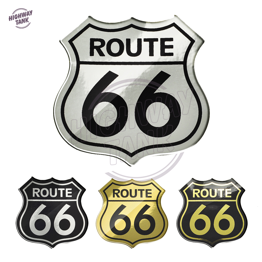 3D Motorcycle Decal America US Route 66 Sticker Case For Harley Touring Electra Road Glide King BMW GS S1000 Indian Stickers