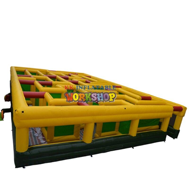 Arène gonflable de labyrinthe de jeu de labyrinthe gonflable fait sur commande pour des adultes et des enfants pour extérieur