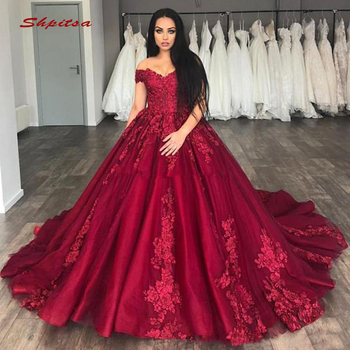 0fce521ca0a De encaje Borgoña vestidos Quinceanera vestido de hombro de Debutante 16 15  dulce 16 vestido vestidos