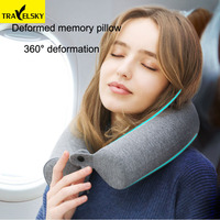 Travel accessories Memory Cotton Pillow Slow Rebound Cylindrical Care Cervical Round Pillow Travel Essentials
