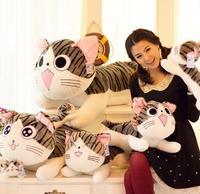40 센치메터 카이의 달콤한 홈 치즈 고양이 베개 봉제 장난감 달콤한 고양이 인형 고양이 베개 기울