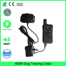 2017 Promotion Rushed Agility Equipment Beeper 400 Meter Rechargeable Waterproof Hunting Remote Dog Training Collar