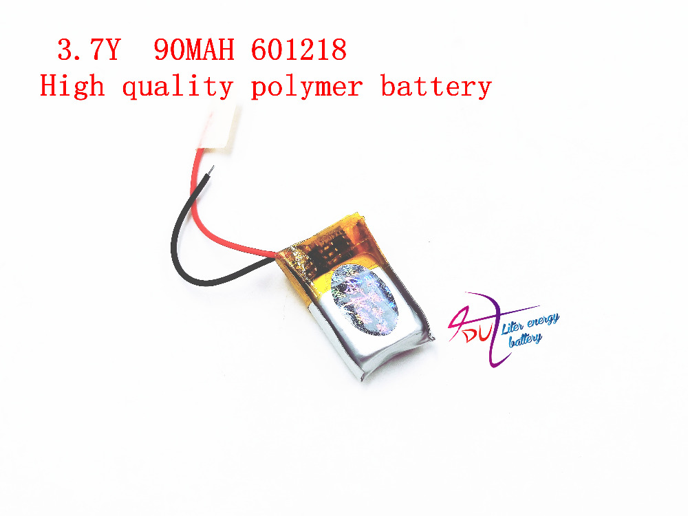 601218 3.7V 90MAH length 18 width 12 thick 6/ Bluetooth headset toys MP4 lithium polymer battery wholesale 504260 3 7v lithium polymer battery length 60 width 42 thickness 5mm