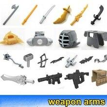20 шт MOC DIY части кирпича оружие Нож Меч Строительная часть DIY блок совместим лего кирпичи набор блоки игрушки часть