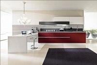 2017 новый бесплатный дизайн Пользовательского 2pac кухня кабинета Лак кухонная мебель горячие продажи модульная кухня