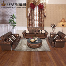 Buy From China Factory Direct Wholesale Valencia Wedding Italian Cheap Leather Pictures Of Sofa Shair Set Designs 112KA(China)