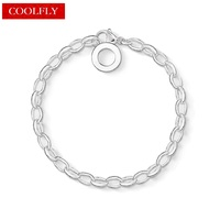Thomas Style Silver Plated Charm Club Carrier Friendship Women Bracelets TS Jewelry Crown And Wedding Christmas