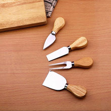 4pcs/set wood Handle sets Bard Set Oak bamboo Cheese Cutter Knife slicer Kit Kitchen cheedse cutter Useful Cooking Tools(China)