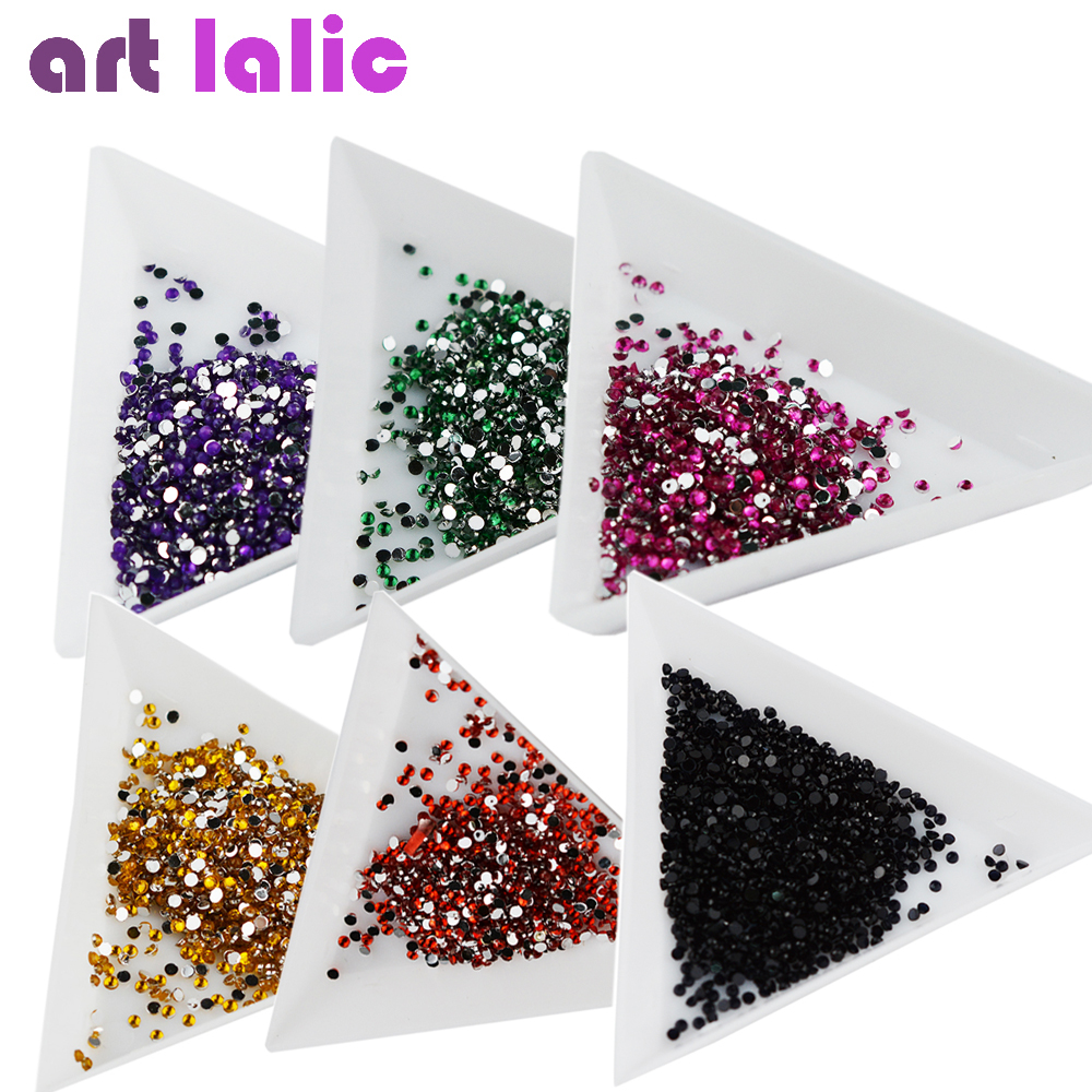 New Arrival 20000pcs Clear & More Colors Glitter 1.5mm Flat Back Crystal Rhinestone Nail Rhinestone 3d Nail Art Decoration redlai colors crystal clear laptop case