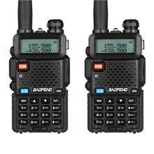 2 stücke BAOFENG UV 5R Sprech Walkie Talkie Two Way Radio FM Transceiver Dual band DTMF VOX Alarm LED Taschenlampe key Lock