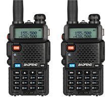 2 stuks BAOFENG UV 5R Interphone Walkie Talkie Walkie Talkie FM Transceiver Dual band DTMF VOX Alarm LED Zaklamp key Lock
